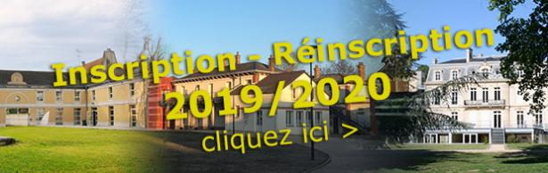 Inscription / Reinscription 2019/2020